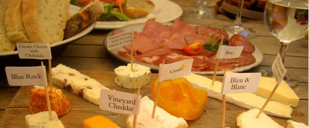 The Cape Winelands area has a great selection of cheeses